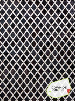 Black and White Harlequin Cowhide Rug