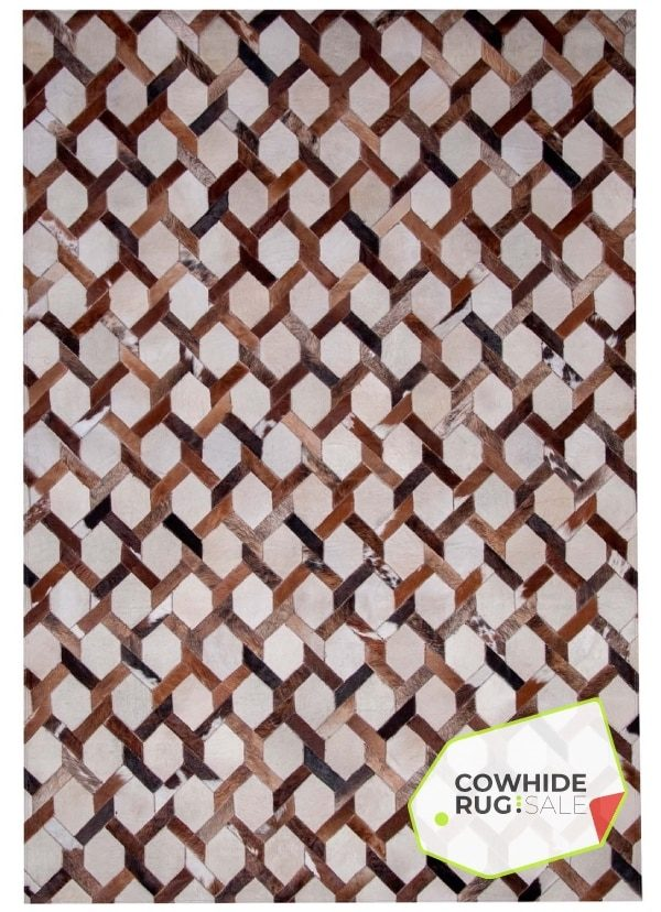 Chainlink Cowhide Leather Rug