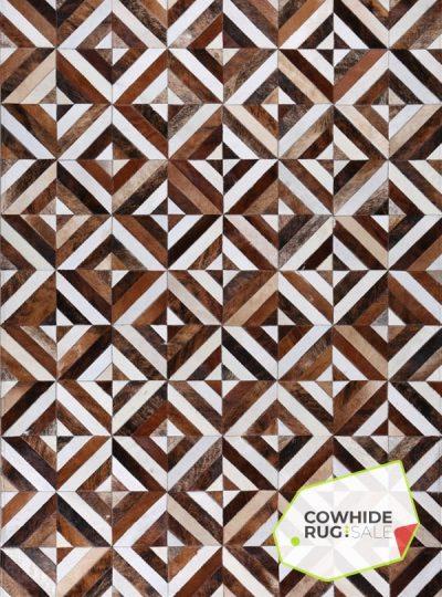 Daring Diagonal Cowhide Rug
