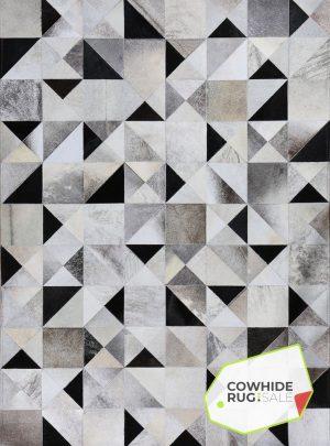 Geometric Cowhide Rug