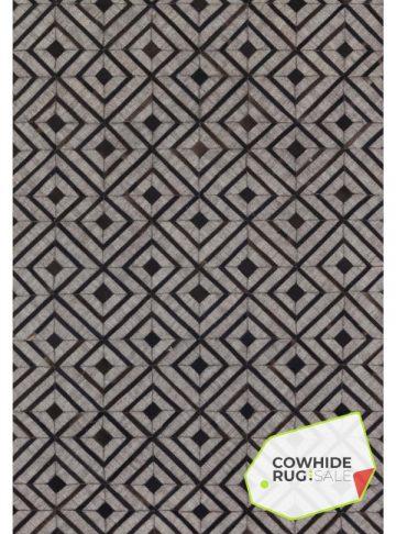 Geometric Grey and Black Rug