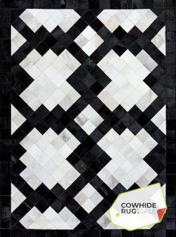 Modern Monochrome Cowhide Rug
