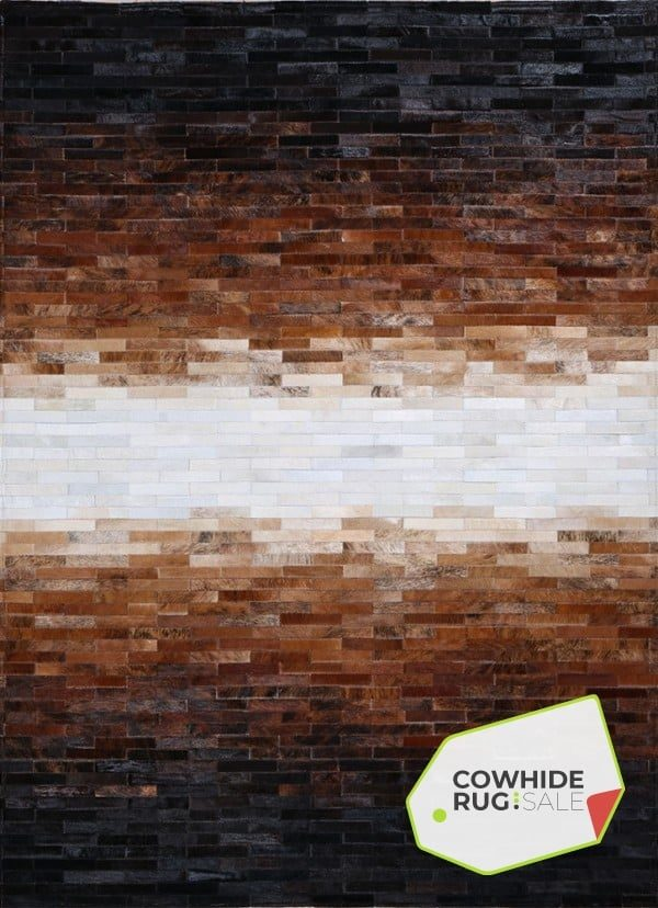 Modern Ombre Cowhide Rug