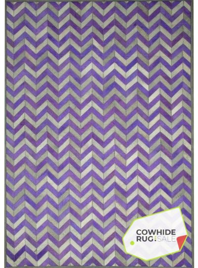 Royal Purple Chevron Rug