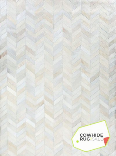White Herringbone Rug