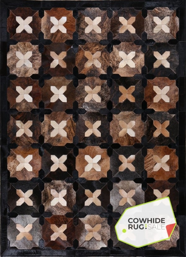 X Marks The Spot Rug Cowhide Rugs